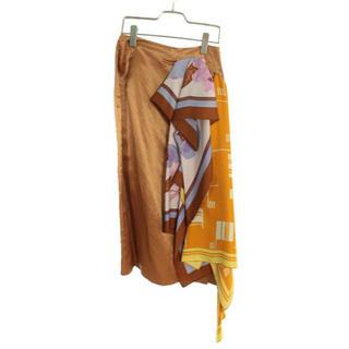 ドリスヴァンノッテン(DRIES VAN NOTEN)の最終価格 大幅値下げ 新品 未使用 スカーフドッキングスカート(ロングスカート)