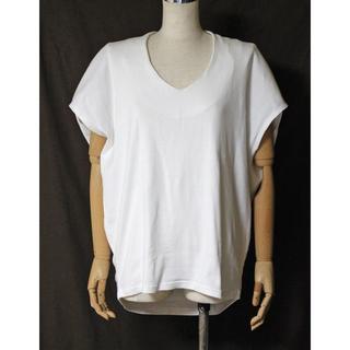 アンティカ(antiqua)のアンティカ ドロップショルダー コクーン ノースリーブ Tシャツ(Tシャツ(半袖/袖なし))
