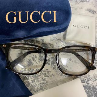 Gucci - 新品未使用 GUCCI グッチ 伊達メガネ ウェリントン ダークハバナ