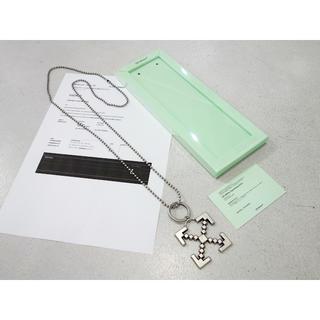 オフホワイト(OFF-WHITE)の新品 正規品 オフホワイト ヴァージルアブロー スキャフォールディングネックレス(ネックレス)