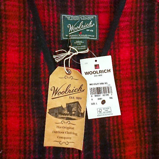 WOOLRICH(ウールリッチ)の新品 ウールリッチ ウールベスト バッファローチェック Woolrich メンズのトップス(ベスト)の商品写真