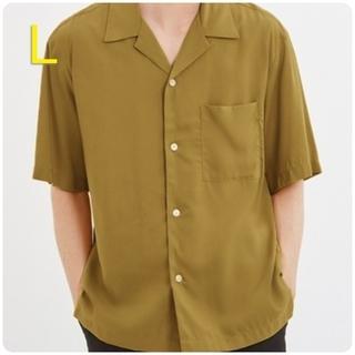 ジーユー(GU)の新品・未使用!!【L】GU/オープンカラーシャツ(5分袖)/イエロー(シャツ)