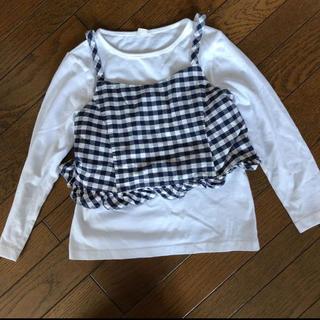 ジーユー(GU)の専用 ジーユー ♡ 120cm キャミセット ギンガム(Tシャツ/カットソー)