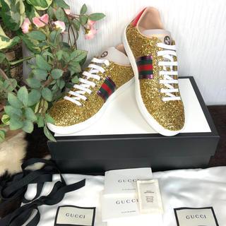 グッチ(Gucci)の⭐️GUCCI グッチ ゴールドスニーカー 定価14万円⭐️(スニーカー)