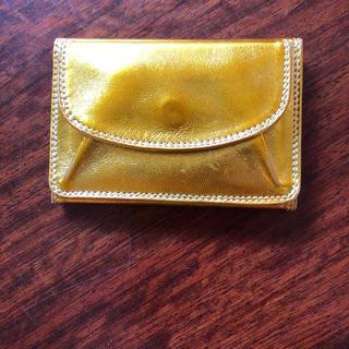 ドルチェアンドガッバーナ(DOLCE&GABBANA)の銀座和光 ミニ財布 ゴールド 金色 アントニーニ イタリア製 カード・小銭入れ付(財布)