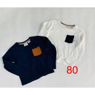 ザラキッズ(ZARA KIDS)のZARAベビー 長袖Tシャツ 80 2枚セット(Tシャツ)