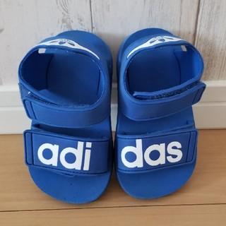 adidas - adidas キッズ ベビー サンダル ブルー 青 14cm