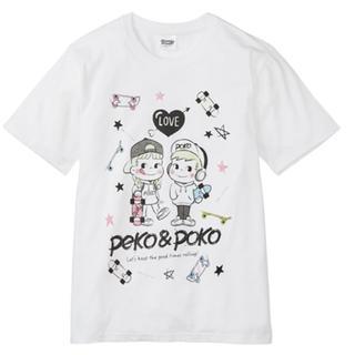 サンリオ(サンリオ)の新品♡ペコ(Peko)♡ストリート プリント半袖Tシャツ (ホワイト・LL)(Tシャツ/カットソー(半袖/袖なし))
