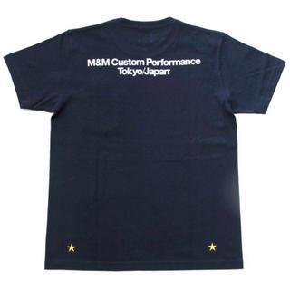 エムアンドエム(M&M)のM&M PRINT SS TEE NAVY ロゴ ポケットT XL 紺(Tシャツ/カットソー(半袖/袖なし))