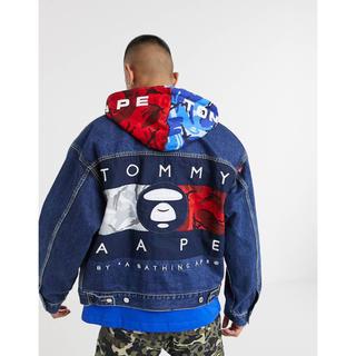 トミーヒルフィガー(TOMMY HILFIGER)のAAPE BY A Bathing APE×Tommy jeans ジャケット(Gジャン/デニムジャケット)