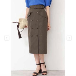 エヌナチュラルビューティーベーシック(N.Natural beauty basic)の【美品】トレンチタイトスカート(ひざ丈スカート)