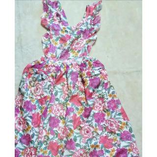 イヴサンローランボーテ(Yves Saint Laurent Beaute)の花柄エプロン(収納/キッチン雑貨)