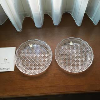 トウヨウササキガラス(東洋佐々木ガラス)のササキクリスタル ペア皿(食器)