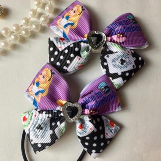 ディズニー(Disney)のディズニー♪不思議の国のアリスリボン♡パープル(ファッション雑貨)