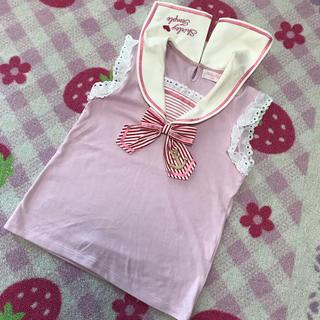 シャーリーテンプル(Shirley Temple)の新品タグ付き シャーリーテンプル セーラー トップス 140(Tシャツ/カットソー)