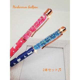 ハーバリウムボールペン♡猫柄(その他)