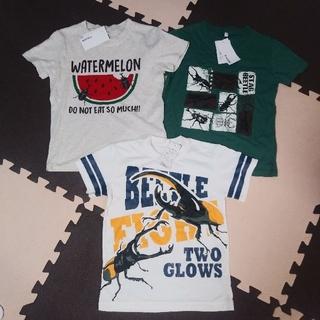 シマムラ(しまむら)の昆虫柄 半袖Tシャツ セット 120 新品(Tシャツ/カットソー)