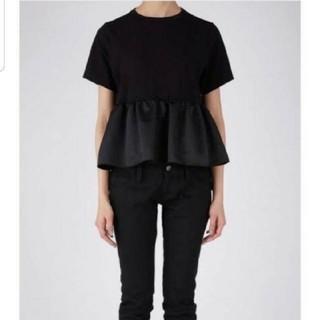 バーニーズニューヨーク(BARNEYS NEW YORK)のYOKO CHAN フロントギャザー フリルTシャツ(Tシャツ(半袖/袖なし))