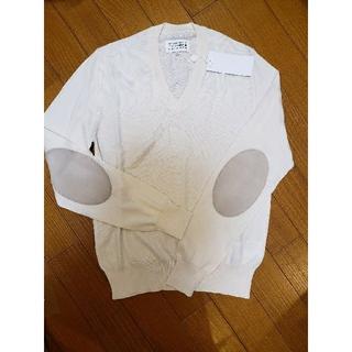 マルタンマルジェラ(Maison Martin Margiela)の新品.未使用 マルジェラ エルボーパッチニット メンズS(ニット/セーター)