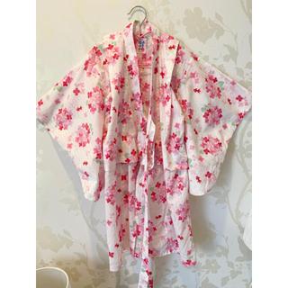 ミキハウス(mikihouse)のミキハウス 浴衣 紫陽花 金魚 ピンク 110センチ(甚平/浴衣)