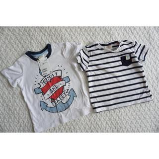 ザラキッズ(ZARA KIDS)の【ほぼ未使用】H&MとZARA Tシャツセット(Tシャツ)