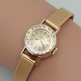 オメガ(OMEGA)のOH済 1972年製 オメガ デビル カットガラス 自動巻きレディース 極美品(腕時計)