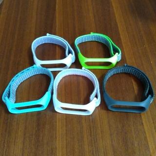 Mi Band 4 替えバンド5本セット + スクリーン保護フィルム1枚(腕時計(デジタル))