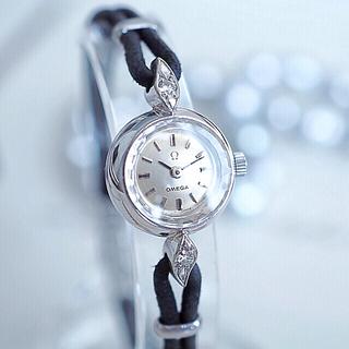 オメガ(OMEGA)のOH済み✨OMEGA K18金無垢 ダイヤ✨ロレックス ティファニー agete(腕時計)