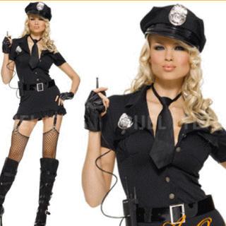 レッグアベニュー(Leg Avenue)のコスプレ 衣装 Dirty Cop レッグアベニュー 警官 グッズ付き(衣装)