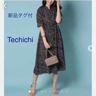 テチチ(Techichi)の新品タグ付!Techichi テチチ 。ジョーゼット花柄マキシワンピース(ロングワンピース/マキシワンピース)