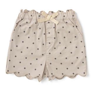プティマイン(petit main)のプティマイン 120 リボンつき裾スカラップショートパンツ(パンツ/スパッツ)