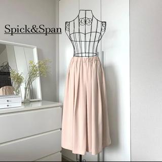 Spick and Span - 【美品】スピックアンドスパン ツイル タックフレアスカウチョ