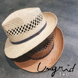 アングリッド(Ungrid)の【新品】 ungrid チロリアンテープHAT(麦わら帽子/ストローハット)