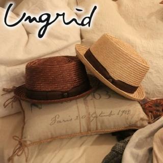 アングリッド(Ungrid)のungrid リボンカンカンHAT(麦わら帽子/ストローハット)
