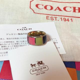 コーチ(COACH)のCoach 指輪 マルチカラー 美品(リング(指輪))