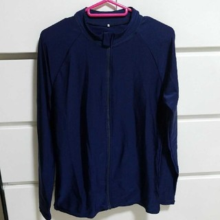 ラッシュガード 170 長袖 紺色(水着)