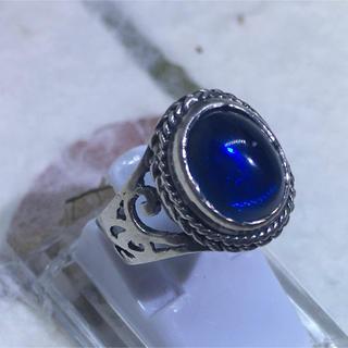 SILVER925オーバルリング シルバー925リング 指輪 ブルーメノウ(リング(指輪))