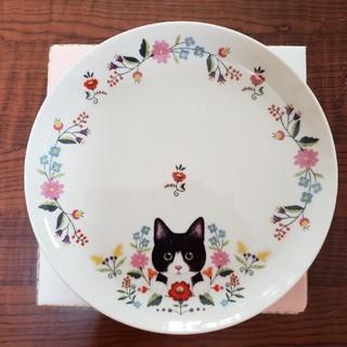 花と猫のモーニングプレート4枚セット