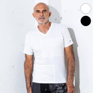 1piu1uguale3 - 1PIU1UGUALE3 RELAX異素材パッチワークTシャツ新品