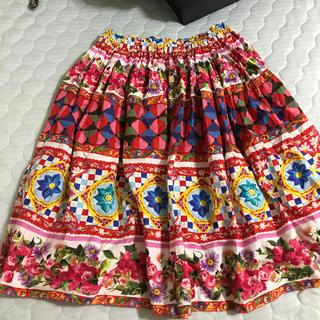 ドルチェアンドガッバーナ(DOLCE&GABBANA)のドルガバ   スカート キッズ12(ひざ丈スカート)