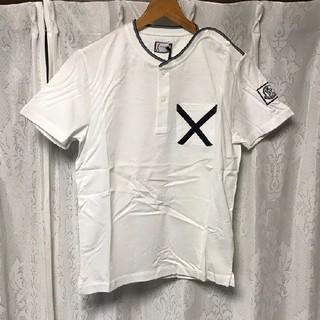 モンクレール(MONCLER)の【タグ付き】MONCLER GAMME BLEUヘンリーネック 半袖シャツ(Tシャツ/カットソー(半袖/袖なし))