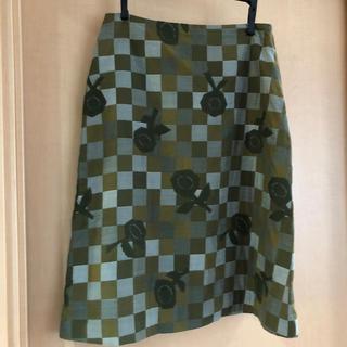 ミナペルホネン(mina perhonen)のミナペルホネン  台形 スカート(ひざ丈スカート)