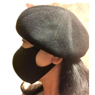 サマンサモスモス(SM2)のSM2  黒 夏用麻混ベレー帽 新品❗️ sha sha shanko様専用(ハンチング/ベレー帽)