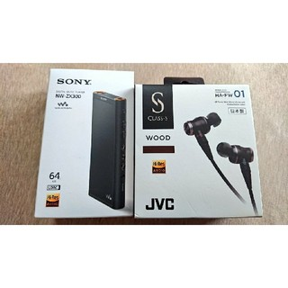 ソニー(SONY)のSONY ウォークマンZX300、JVC HA-FW01 リケーブル等セット販売(その他)