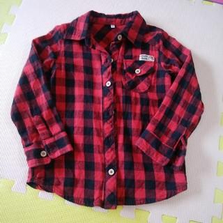 ニシマツヤ(西松屋)の赤 チェック柄シャツ(ジャケット/上着)