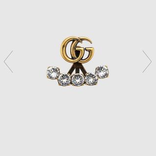 グッチ(Gucci)の【ほぼ未使用】GUCCI シングルピアス クリスタル ダブルG(ピアス)