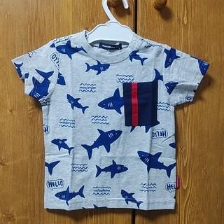mou jon jon - moujonjon ムージョンジョン 90cm サメ柄 半袖Tシャツ グレー