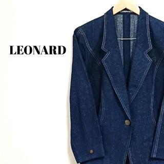 レオナール(LEONARD)のラグジュアリー☆ 上質 レオナール テーラードジャケット デニム レディース(テーラードジャケット)