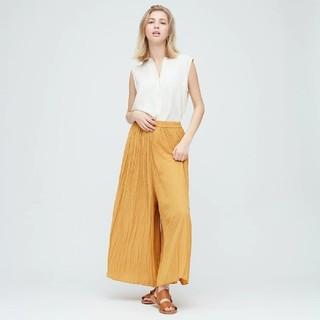 ユニクロ(UNIQLO)のワッシャーサテンスカートパンツ Mサイズ(その他)