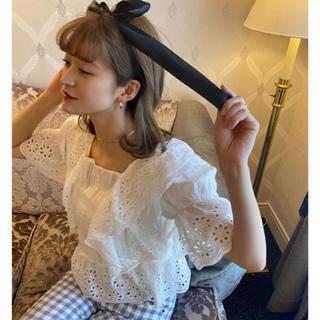 bibiy frill lace blouse♡(シャツ/ブラウス(半袖/袖なし))